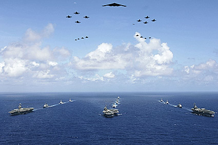 U.S. Navy Aircraft Carriers in Exercise Valiant Shield Photo Print
