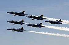 U.S. Navy Blue Angels Delta Formation Photo Print for Sale