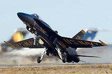 U.S. Navy Blue Angels Jet Takeoff Photo Print for Sale