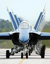 U.S. Navy Blue Angels Taxi into Flight Line Photo Print for Sale