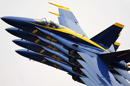 U.S. Navy F-18 Blue Angels Echelon Parade Photo Print