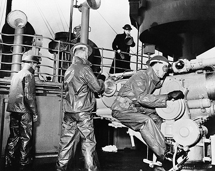 U.S. Navy Gun Crew 50 Caliber Gun WWII Photo Print