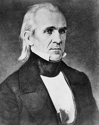 U.S. President James K. Polk Portrait Photo Print