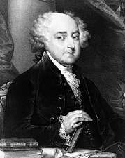 U.S. President John Adams Engraved Portrait Photo Print