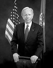 U.S. Senator Joe Lieberman B&W Portrait Photo Print for Sale