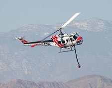 UH-1 Huey Hemet-Ryan Firefighter Helicopter Photo Print for Sale