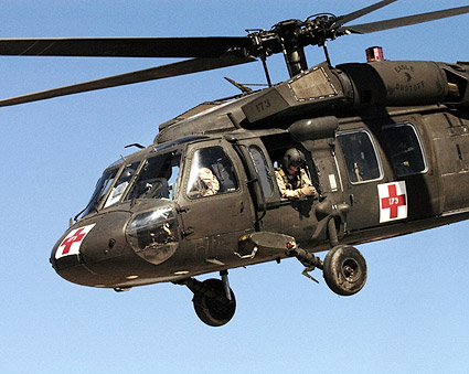 UH-60 Blackhawk Army Ambulance Helicopter Photo Print
