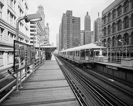 Union Elevated Railroad's Randolph-Wabash Station, Chicago Photo Print