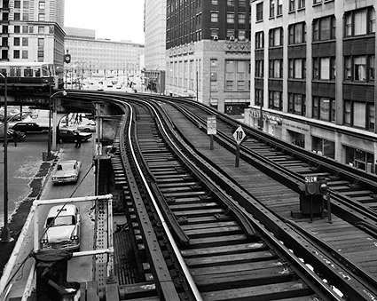 Union Elevated Railroad Tracks in Chicago Photo Print