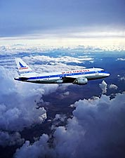 US Airways A319 with Piedmont Airlines Retro Livery Photo Print for Sale