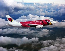 US Airways Airbus A319 Arizona Cardinals Plane Photo Print for Sale