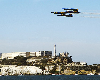 US Navy Blue Angels Alcatraz, San Francisco Photo Print