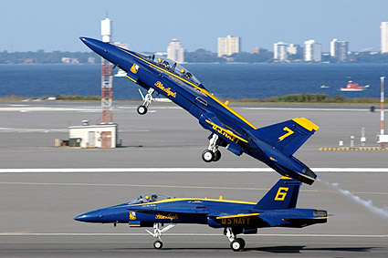 US Navy Blue Angels F-18 Take-off Photo Print