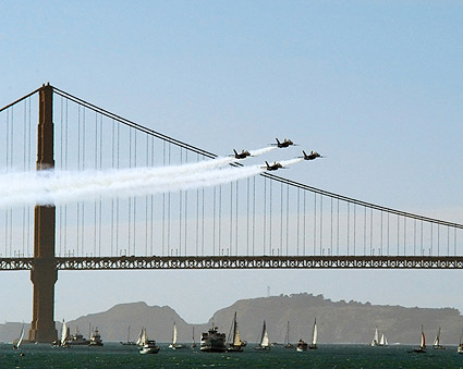 US Navy Blue Angels Golden Gate Bridge Photo Print