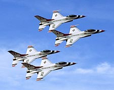 USAF Thunderbirds Banking Formation Photo Print for Sale