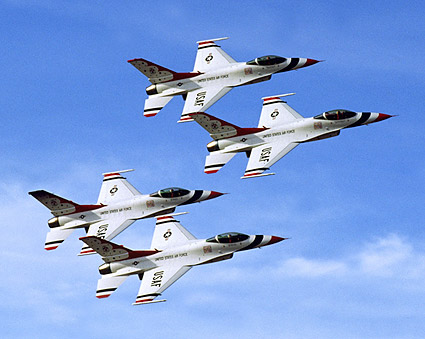 USAF Thunderbirds Banking Formation Photo Print