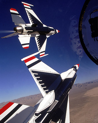 USAF Thunderbirds Cockpit Flight View Photo Print