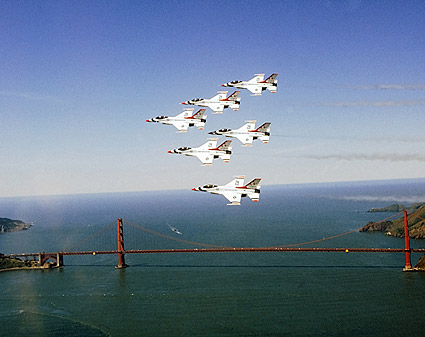 USAF Thunderbirds Golden Gate Bridge Photo Print