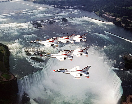 USAF Thunderbirds Niagara Falls Photo Print