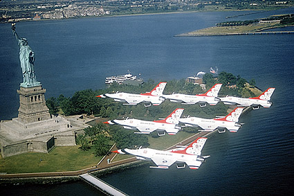 USAF Thunderbirds NYC Statue of Liberty Photo Print