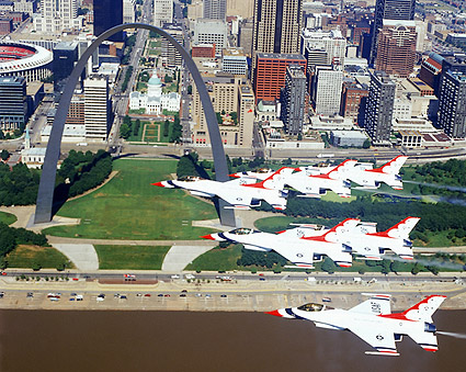 USAF Thunderbirds over St. Louis Photo Print
