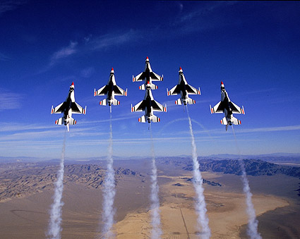 USAF Thunderbirds Vertical Formation Photo Print