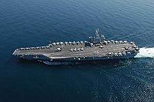 USS Dwight D. Eisenhower (CVN 69) in Arabian Sea Photo Print for Sale
