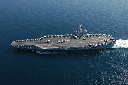 USS Dwight D. Eisenhower (CVN 69) in Arabian Sea Photo Print