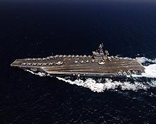 USS Dwight D. Eisenhower (CVN 69) in Mediterranean Sea Photo Print for Sale