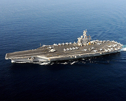 USS Dwight D. Eisenhower (CVN 69) in the Arabian Sea Photo Print