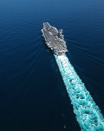USS Dwight D. Eisenhower in Arabian Sea Photo Print