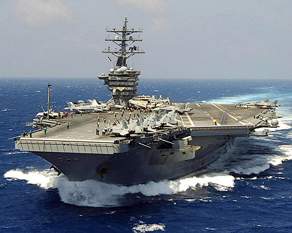 USS Dwight D. Eisenhower with Carrier Air Wing Seven Photo Print