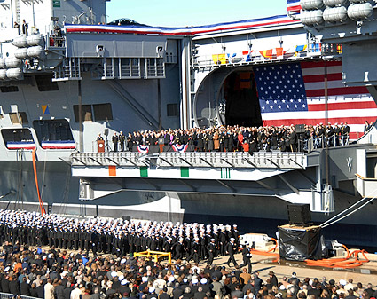 USS George H.W. Bush CVN 77 Commissioning Ceremony Photo Print