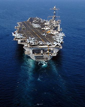 USS John C. Stennis (CVN 74) in Arabian Sea Photo Print