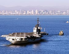 USS Midway CVB-41 Moved to San Diego Bay Photo Print for Sale