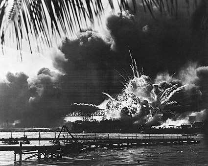 USS Shaw Explodes at Pearl Harbor WWII Photo Print