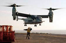 V-22 Osprey Landing Aboard USS Bataan LHD 5 Photo Print for Sale
