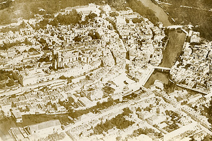 Verdun France Aerial View WWI Photo Print