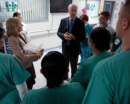 Vice President Biden at Landstuhl Regional Medical Center Photo Print