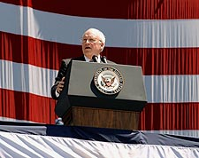 Vice President Dick Cheney Patriotic Photo Print for Sale
