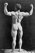 Victorian Bodybuilder Eugen Sandow Portrait Photo Print for Sale