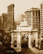 Victory Arch & Flatiron, New York City 1919 Photo Print