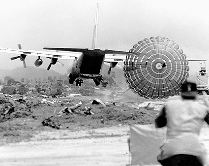 Vietnam War C-130 Parachute Extraction System Photo Print