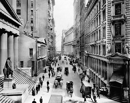 View of Wall Street From Nassau NYC 1911 Photo Print