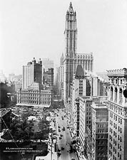 View of Woolworth Building Broadway NYC Photo Print for Sale