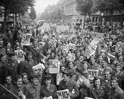 VJ Day Celebration Japanese Surrender WWII Photo Print