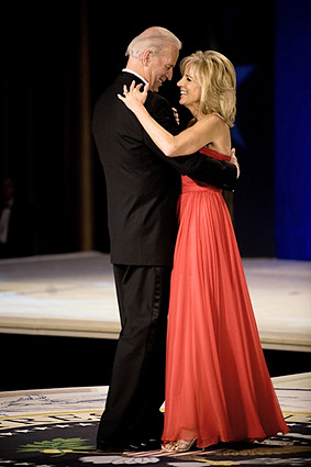 VP Joe Biden and Jill Biden Dance at Inaugural Ball Photo Print