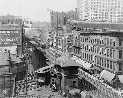 Wabash Avenue & Elevated Railroad, Chicago Photo Print