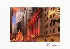 Wall Street Personalized Christmas Cards