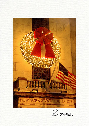 Wall Street New York Stock Exchange Boxed Christmas Cards